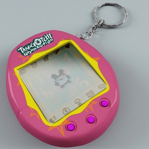 tamagochi color rosa