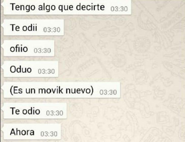 TE ODIO MAL ESCRITO POR EL AUTO CORRECTOR DEL CELULAR