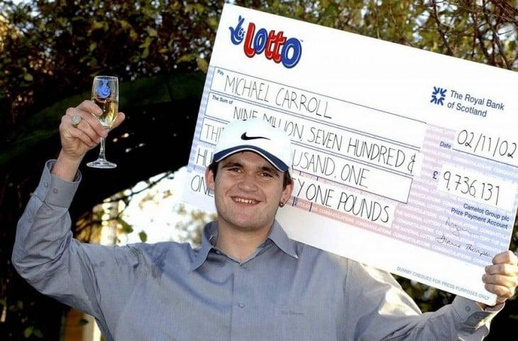 michael carroll ganador de la loteria en gran bretaña