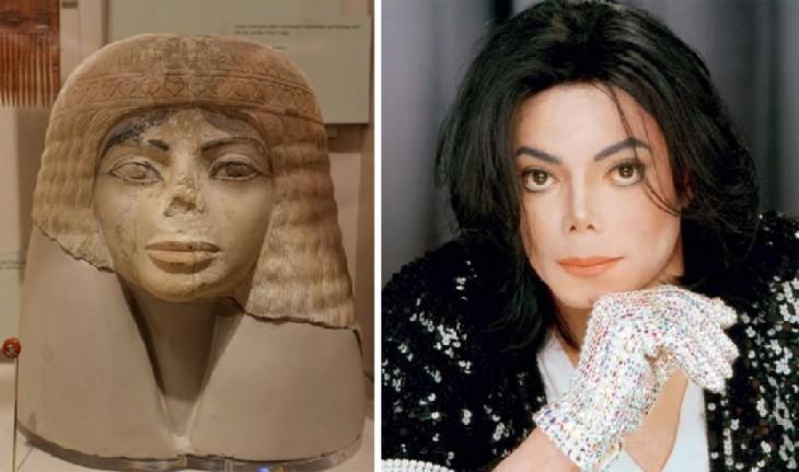 michael jackson parece sarcofago egipcio