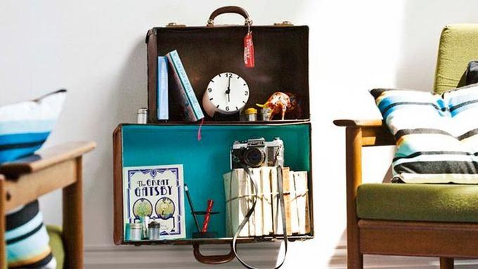 maletas en forma de repisa