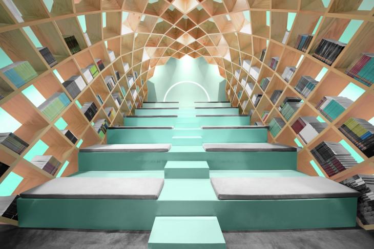 librero en forma de domo