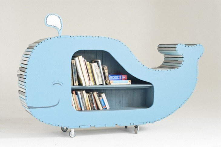 una ballena repisa para el cuarto de los pequeños