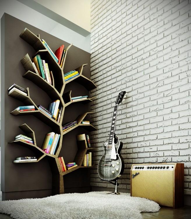 librero en forma de arbol