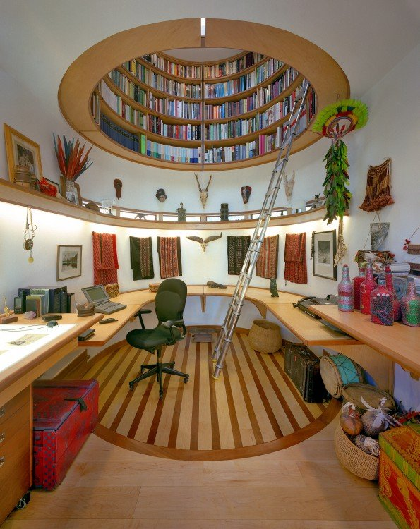 un techo hecho de puros libros