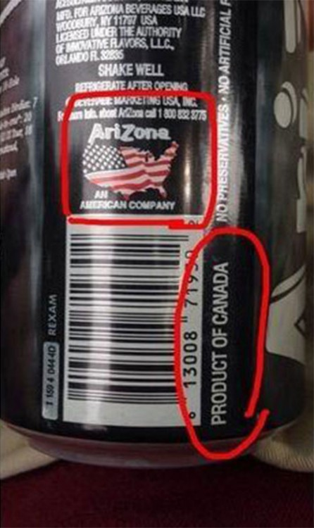 El te de arizona es canadiense