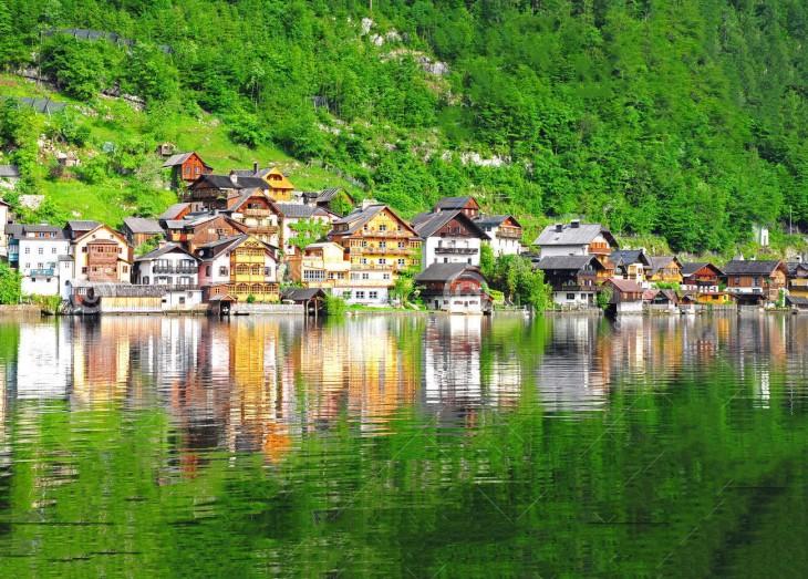 Aldea de Hallstatt, Austria