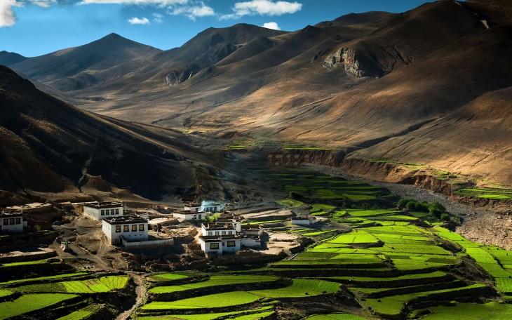 Villa en el Himalaya, Tibet