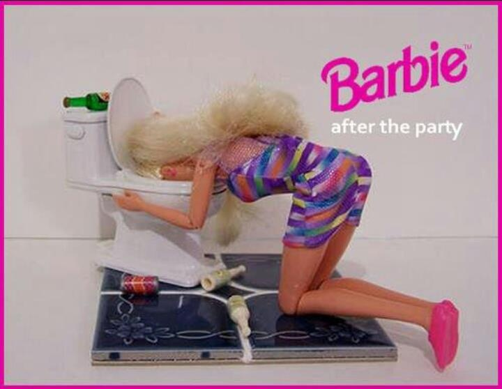 barbie con resaca