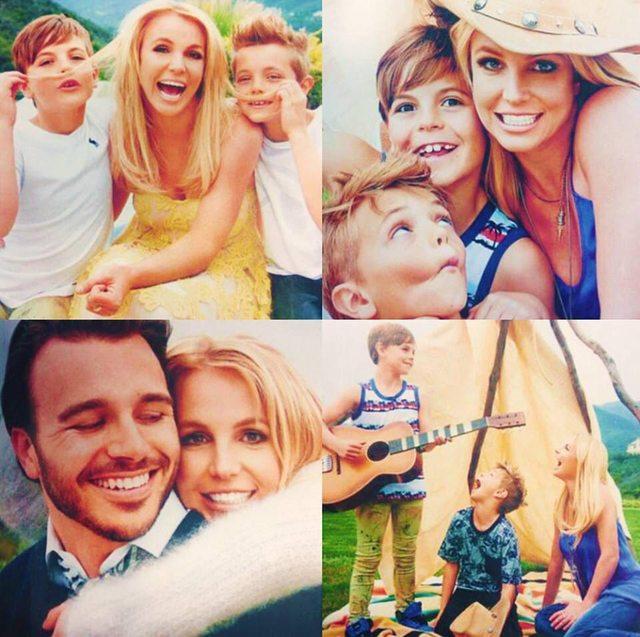 britney spears con su familia