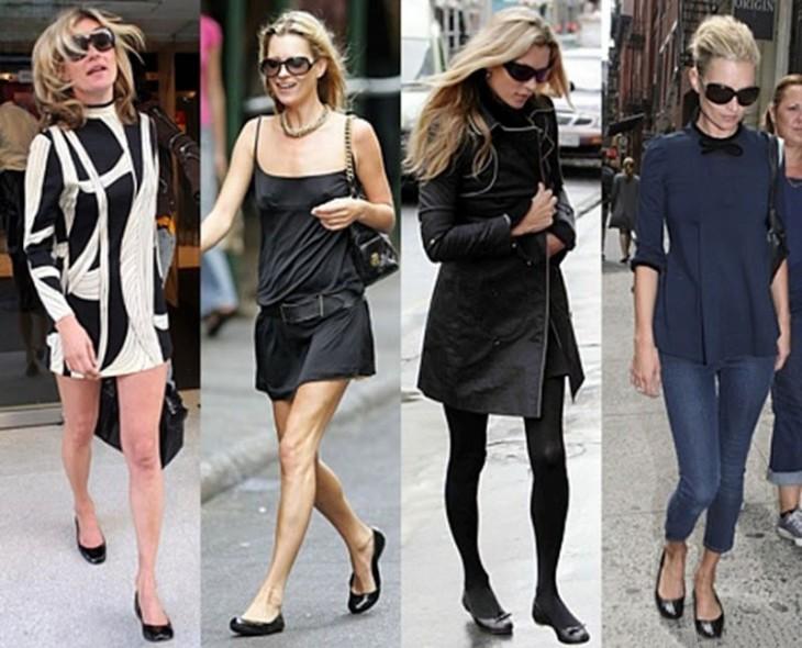 mujeres con zapatos estilo flat