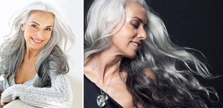 Yasmina Rossi, es una famosa modelo francesa de 59 años