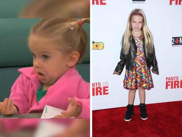 Antes y después de Mia Talerico junto a su meme de la niña ¡OSEA QUE PEDO!