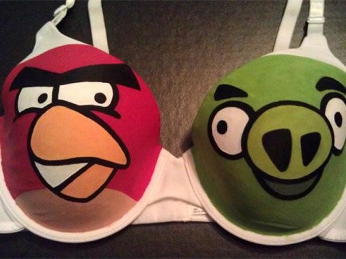 Brasier con el diseño de los Angry Bird