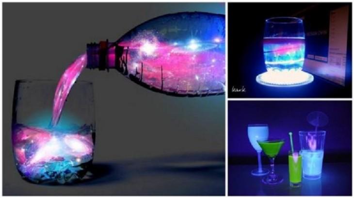 Imagen con diferentes tomas de las bebidas brillantes del coctel Aurora