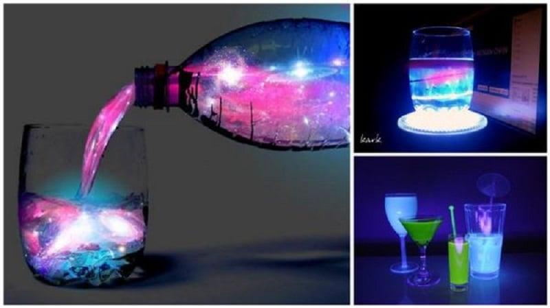 Mira la preparación de la bebida que brilla en la oscuridad