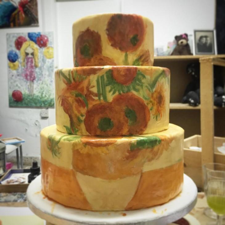 Pastel que representa los girasoles de Vincent Van Gogh