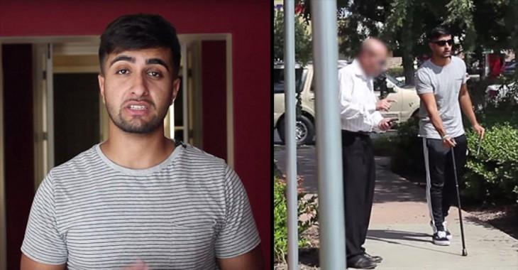 Johal youtuber que hizo un experimento fingiendo ser ciego