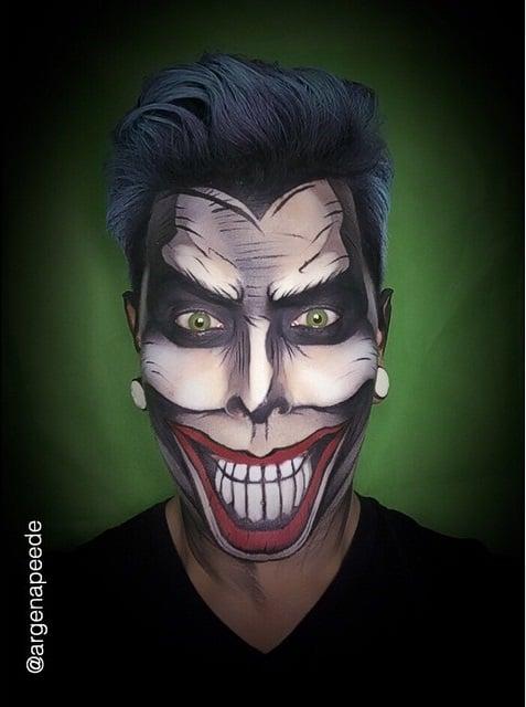 Argenis Pinal maquillado como El Joker