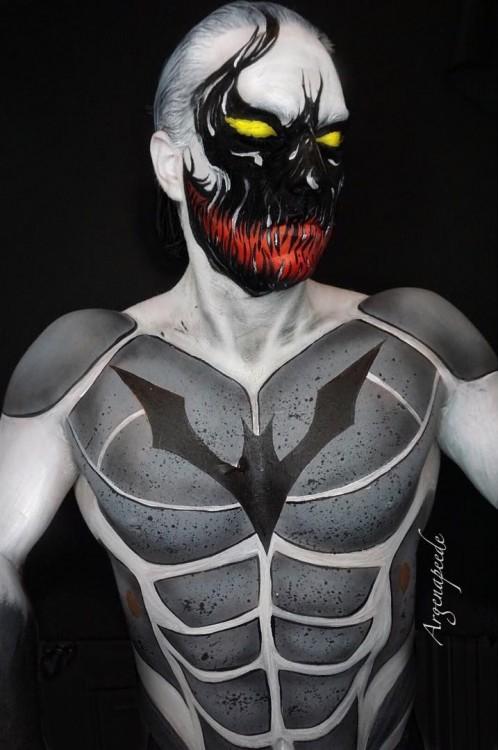 Batman Venom Híbrido maquillaje por Argenis Pinal