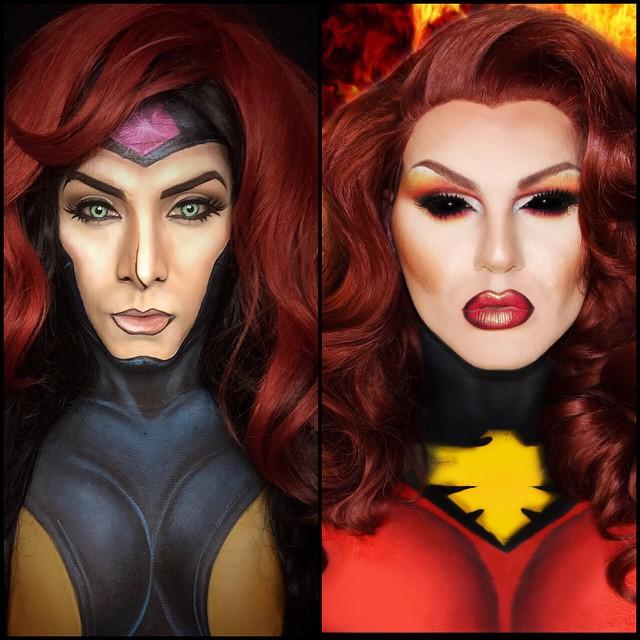 Maquillaje de Jane Grey y Phoenix a cargo de Argenis Pinal