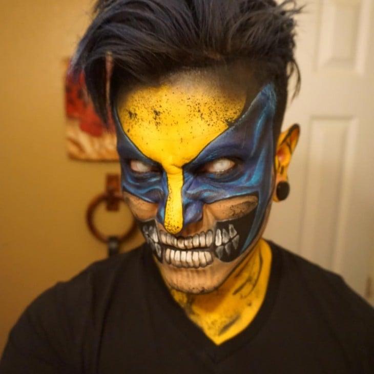 Argenis Pinal pintado de Zombie Wolverine