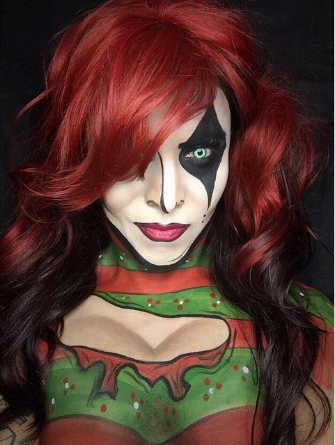 Argenis Pinal maquillado como Harley Quinn