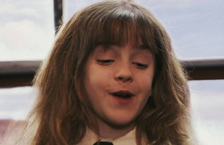 Cara de Emma Watson de niña