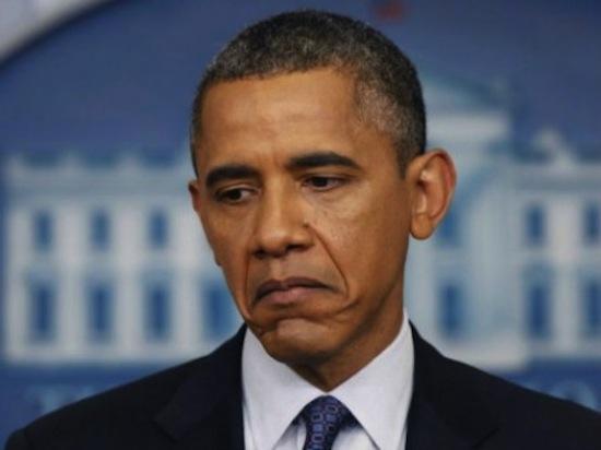 Cara triste del presidente Barack Obama
