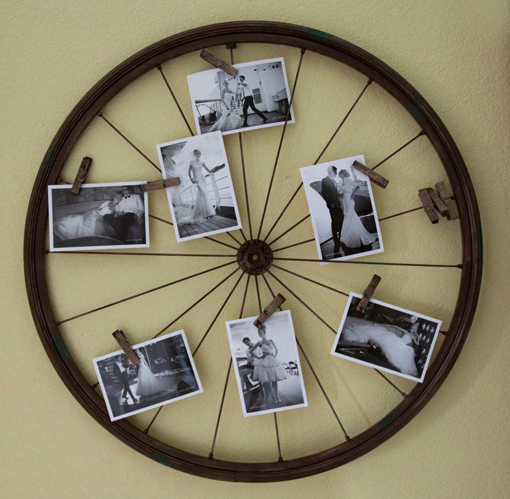 20 maneras de c mo reciclar las ruedas de tu bicicleta - Decoracion con ruedas ...