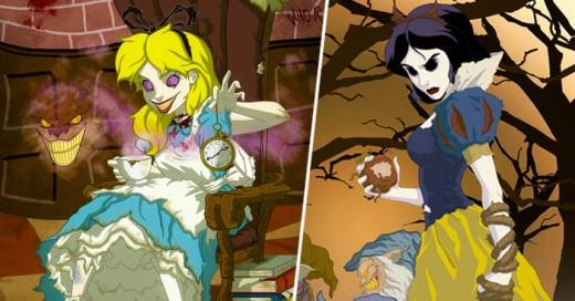 Este Ilustrador se divierte sacando el lado B de Las princesitas de Disney