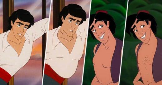 Los galanes de Disney en un experimento de como lucirian con cuerpos reales divertido y realista