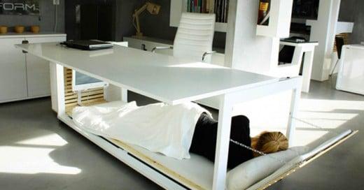 """""""Escritorio de la siesta"""" así lo han nombrado sus diseñadores a este peculiar escritorio que te permitirá tomar una siesta"""