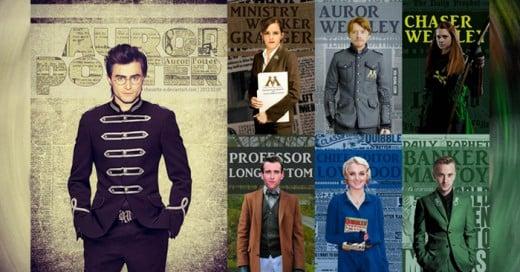 Los fans de la saga de Harry Potter recrean lo que su imaginación les habla de como seria la vida después del colegio de los personajes