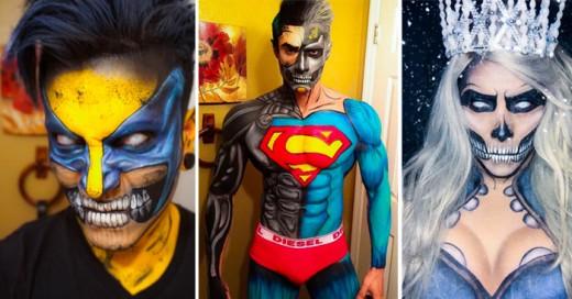 Argenis Pinal es un artista del maquillaje que no necesita un disfraz para parecerse a un superhéroe, pues lo único que necesita son sus fantásticas habilidades de maquillaje y pintura de cuerpo para cambiar su apariencia.