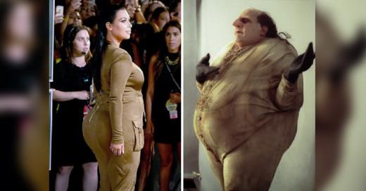 Kim Kardashian comparado con el Pingüino de Batman, son una muestra de como existen cosas diferentes que se parecen muchisimo
