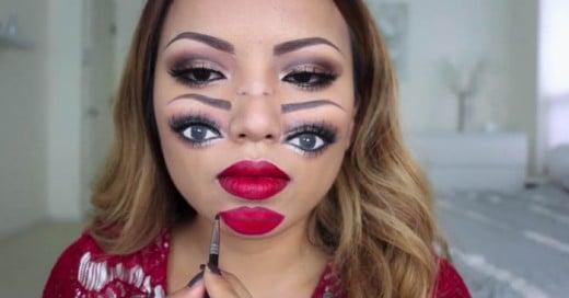 Un Tutorial de como hacer un sencillo pero impactante maquillaje para este hallowen