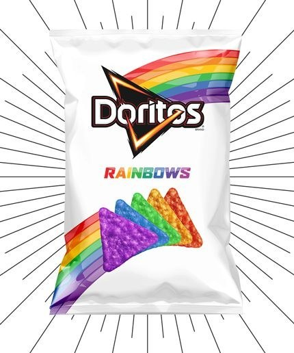 doritos Arcoiris en favor del orgullo lgbt