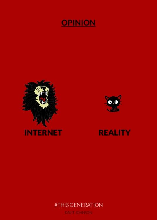 opinión acerca del internet en una momento de la teconología