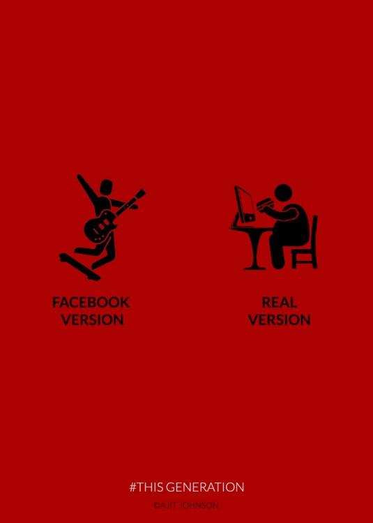 la version de como la gente te visualiza y como realmente eres