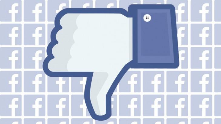 logotipo del botón dislike en Facebook
