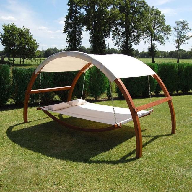 cama mecedora para jardn