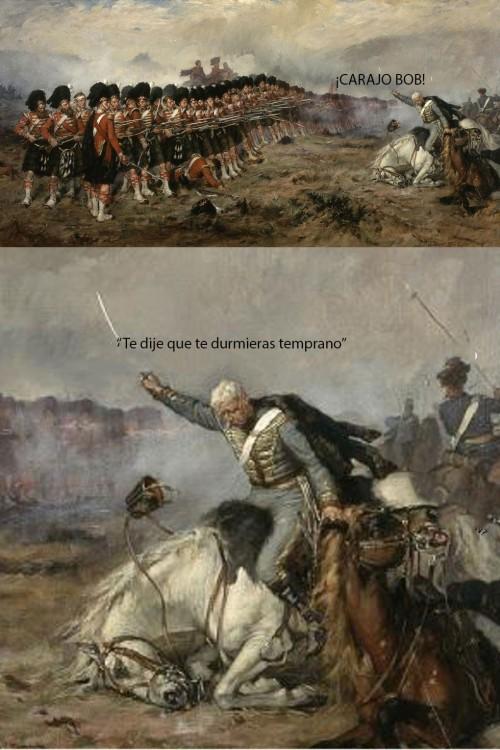 caballo se le queda dormido a media batalla campal