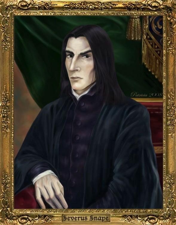 ilustración con el retrato de Severus Snape, personaje de la saga de Harry Potter