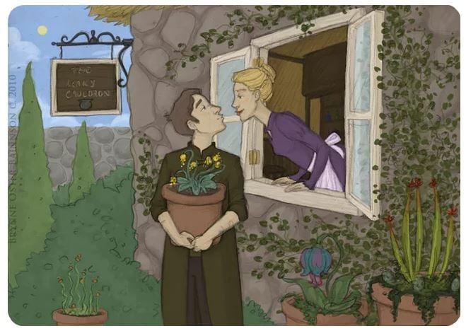 Neville y Hannah Abbott, personajes de la saga de Harry Potter