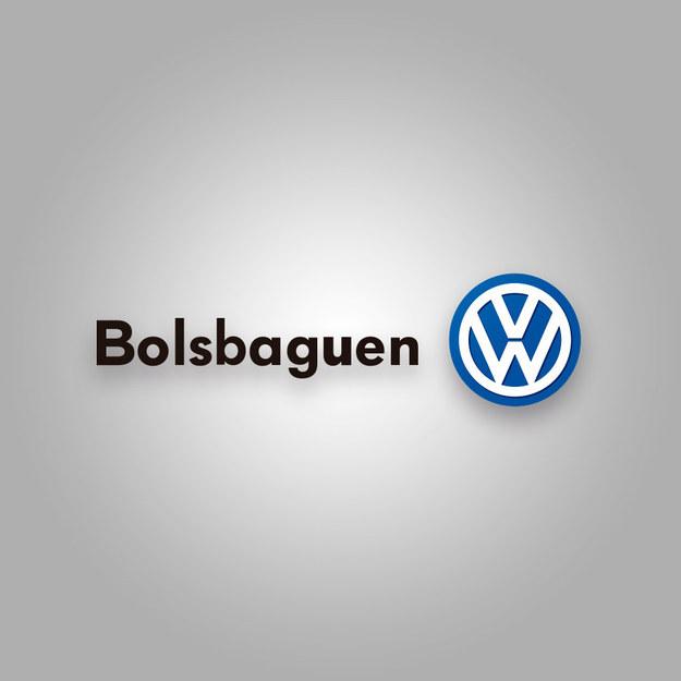 """Logotipo de la Volkswagen con la palabra """"Bolsbaguen"""""""