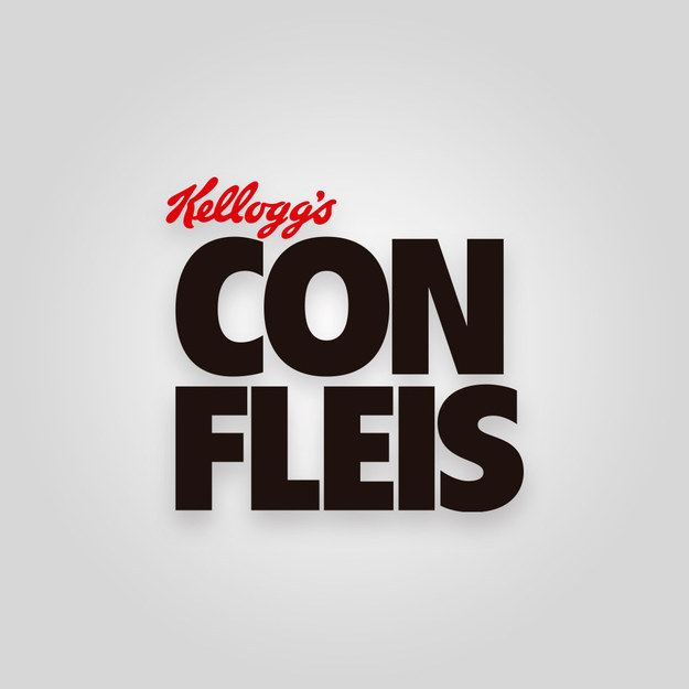 logotipo mal escrito del Corn Flakes
