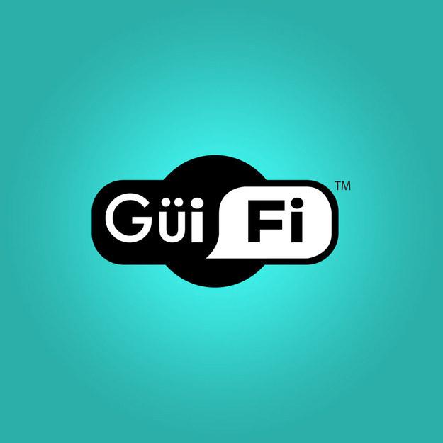 """Logotipo de Wi-Fi mal escrito como """"Güi Fi"""""""