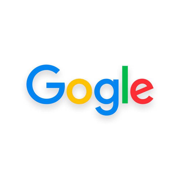 """Logotipo de Google con una sola """"o"""""""