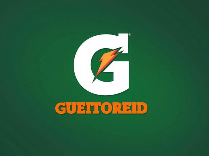"""Logotipo de la marca Gatorade con la frase """"Gueitoreid"""""""